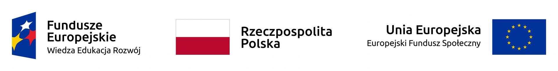 zestaw logotypów Europejskiego Funduszu Społecznego