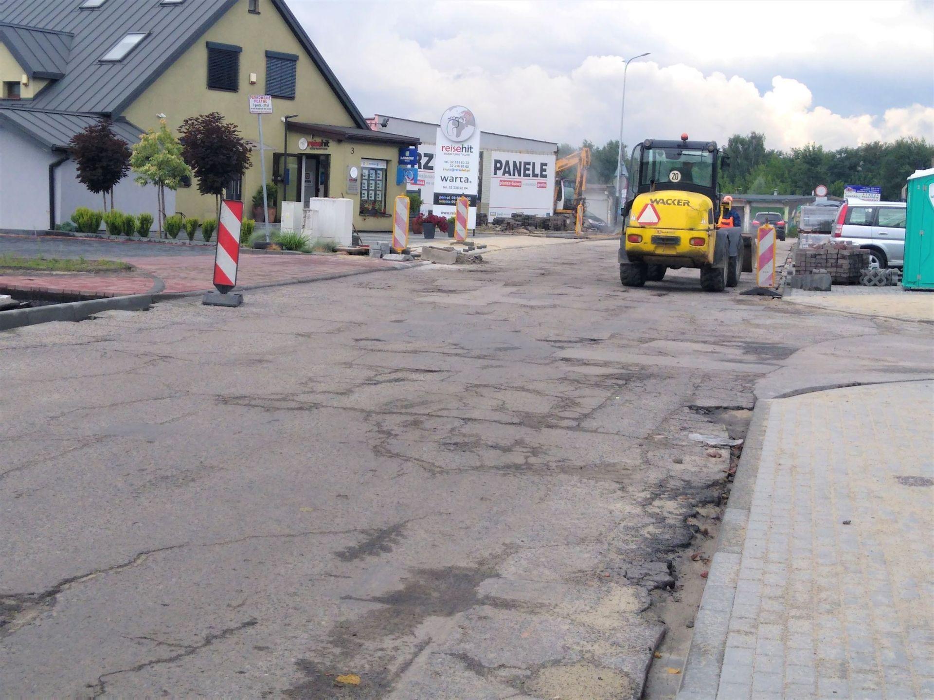 Zdjęcie ulicy Targowej podczas przebudowy