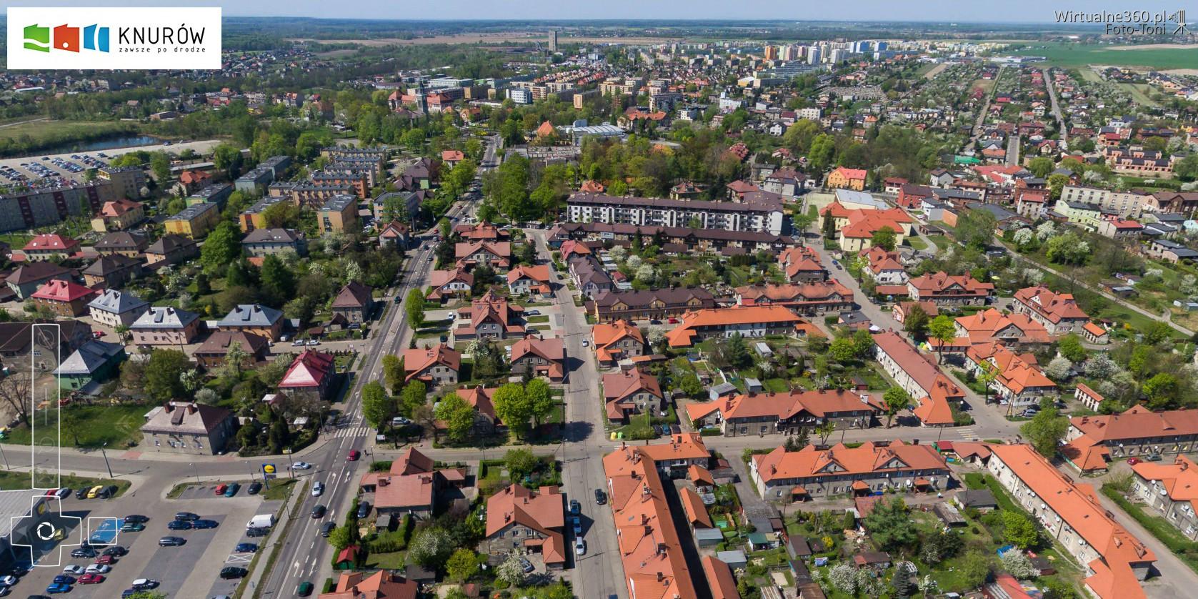 widok miasta od strony Starego Knurowa